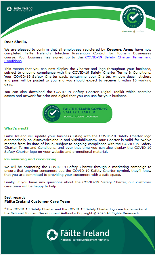 3.2 Covid safety charter