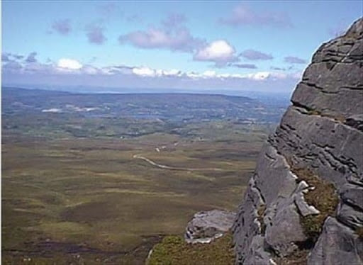 Man's influence on Cuilcagh Mountain